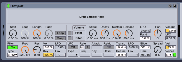 simpler, ableton live, mmmmaven, music production, ableton live