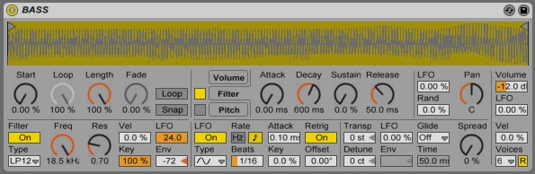 Simpler - LFO and Envelope On